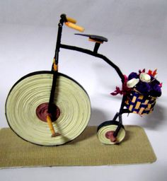 penny farthing paper quilling