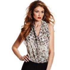 Marciano Animal Print Bodysuit WORN ONCE! Marciano Tops