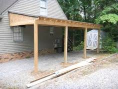 Lean To Shed Roof Attached To Garage Carport Diy Would