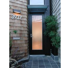 Frosted glass design- for front door side vent windows? | Projects ...