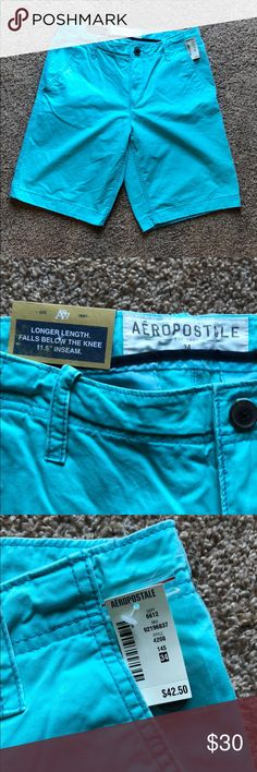 🔷 Bright Teal Shorts Brand new. Great jeans. My boyfriend got another size and absolutely loves them! Aeropostale Shorts