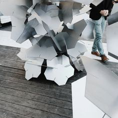 Installation by SA lab  #SAlab #parametric #architecture #installation #modernart #modern #metall #arch #digital #generative #design #nordic #pavilion