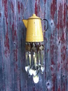 Windchime Repurposed Coffee Pot Silverware Wind by GreatLakesChime
