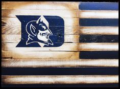 Sports Flags, Wooden Flag, Duke Blue Devils, Flag Art, My Etsy Shop, Rustic, Unique Jewelry, Handmade Gifts, Vintage