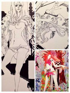 Japanese Illustration, Retro Illustration, Art Illustrations, Japanese Graphic Design, Japanese Art, Film Inspiration, Character Inspiration, Comic Books Art, Comic Art