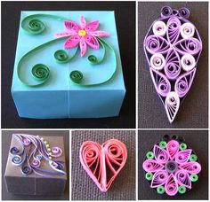 Quilling-1, great idea for top of packages!