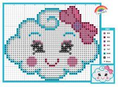 Unicorn Cross Stitch Pattern, Baby Cross Stitch Patterns, Cross Stitch Designs, Cross Stitches, Xmas Cross Stitch, Cross Stitch Baby, Crochet Bear, Filet Crochet, Free Cross Stitch Charts