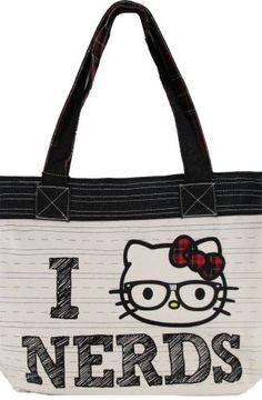 hello kitty ilovenerds tote bag