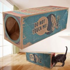 cardboard cat house Kittens Playing, Cats And Kittens, Play Tunnel, Cat Exercise, Cat Tree Condo, Interactive Cat Toys, Kitten Toys, Bed Mats, Fancy Cats
