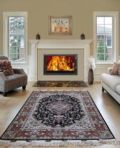 Woodfire RH Inset stove Inset Log Burners, Insert Stove, Wood Burning Fireplace Inserts, Living Room Decor Fireplace, Stove Fireplace, Wood Burner, New Homes, Lounge, Stoves