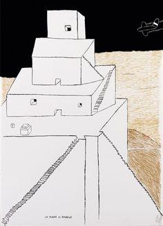La torre di babele by Ettore Sottsass Global Art, Art Market, Auction, Idea Generation, Prints, Graphics, Illustrations, Architecture, Drawings