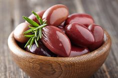 Melia Freshline Kalamata Olives > Our Greek olives are processed by natural fermentation and packed in brine and red vinegar to preserve the crispness. They are selected for their sweetness, their rich flavor and their difference in appearance. > Plastic barrel (12kgr.) for all four varieties of Kalamata Olives, Large, Extra Large, Jumbo and Colossal.