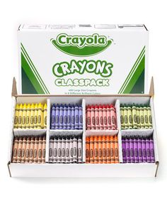 Loving this Eight-Color 400-Ct. Crayon Classpack Set on #zulily! #zulilyfinds
