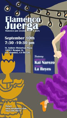 Don't forget to reserve your spot for the Sept 10th Juerga! Only 50 people allowed !