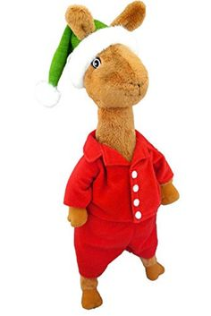 Llama Llama is one of the most-loved characters of all time. This Llama is ready for #Christmas with his green Santa hat and red pajamas. Soft and warm, Llama Llama is the perfect companion for the #Holiday season. Llama Llama Holiday Drama is written by Anna Dewdney. Doll is safe for all ages, perfect for ages 3-6. Removable Clothing. Surface wash only. Measures 14 inches tall.