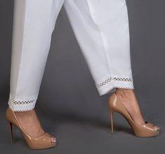 salwar poncha design dori loops patiala salwar mohri design easy way Pakistani Formal Dresses, Pakistani Outfits, Salwar Designs, Blouse Designs, Salwar Pants, Patiala Salwar, Sharara, Kurti, Leggings Fashion