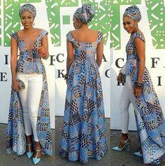 African Print Mesh Long BlouseAfrican Print Top by Zizibespoke