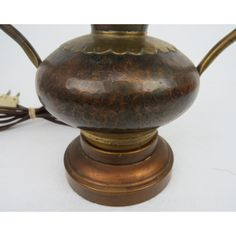 Antique Arts & Crafts Hammered Copper and Brass Table Lamps - a Pair | Chairish