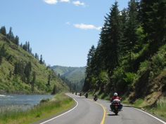 Motorcycling - great twisty roads!