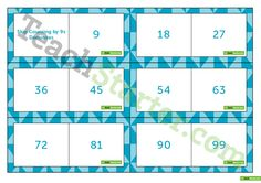 Skip Counting by 9s Dominoes Teaching Resource