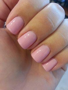 Pink chiffon gel polish by sensationail. Perfect pink gel polish