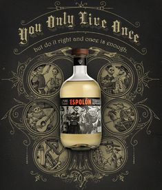 Espolon Tequila Print Ads illustrated by Steven Noble by Steven Noble, via Behance <3