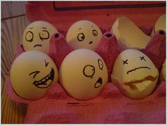 Funny Drawing on Eggs