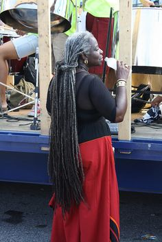 An ancient beauty!!! Grey gray long dreaded dreadlocks hair natural #jhirmacksilversisters