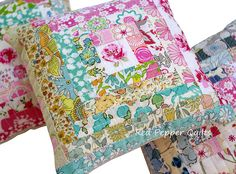 Gorgeous Liberty pincushions @ Red Pepper Quilts: Liberty Love