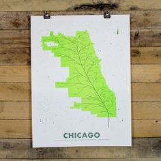 City Leaf Map Posters - HOLSTEE