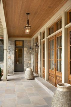 Back Patio & Front porch side door concepts   Lake Front Country Estate - traditional - Entry - Other Metro - Markalunas Architecture Group