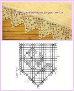 Creazioni di bordure all'uncinetto con schema - Il blog italiano sullo Shabby Chic e non solo