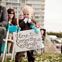 Ring Bearer idea from a wedding of mine in Coronado!