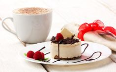 Raspberry Chocolate Coffee Wallpaper