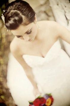 Sister's wedding! Garden Wedding Venue | Beautiful Bridal Portrait | Claire Marie Photo