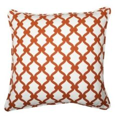 COCOCOZY Gate Linen Pillow in Rust! Perfect for fall. http://cococozy.com