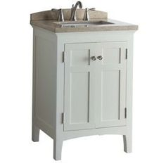 allen + roth Norbury White Undermount Single Sink Bathroom Vanity with Engineered Stone Top (Common: 24-in x 22-in; Actual: 24-in x 20.63-in)
