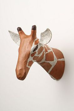 Savannah Story Bust, Giraffe | Anthropologie.eu