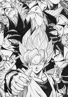 stuff of dragon ball and cosas chingonas Otaku Anime, Anime Echii, Anime Comics, Anime Art, Dragon Ball Gt, Manga Dragon, Ball Drawing, Z Arts, Fan Art