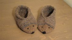 Hedgehog slippers socks shoes by Laimadesign on Etsy