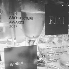 Great to be part of the team who delivered the Best Public Space Award at the Irish Architecture Awards 2017 last night in the Mansion house for Denis Byrne Architects for the Marconi/Alcock and Brown station in Derrygimlagh near Clifden. Architecture Awards, Awards 2017, Mansions Homes, Architects, Irish, Alcoholic Drinks, Workshop, Public, Good Things