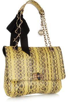 Lanvin | Happy elaphe shoulder bag | NET-A-PORTER.COM | gorgeous!