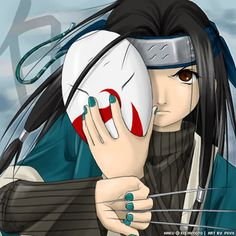 Haku is a young orphan ninja from the Land of the Wave. He served as Zabuza Momochi's faithful right hand man and is feared due to his advanced bloodline, meeting his end at the hands of Hatake Kakashi while trying to protect Zabuza. Giant Bomb, Naruto Characters, Pressure Points, Naruto Shippuden, Sims 4, Badass, Masks, Image, Showers
