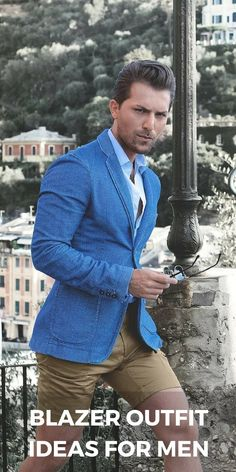 Blazer jacket outfit ideas for men Blue Blazer Outfit Men, Mens Casual Dress Outfits, Casual Blazer, Blazer Outfits, Blazer Jacket, Men Casual, Men's Outfits, Stylish Outfits, Indian Men Fashion