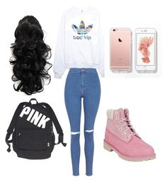 """""""Untitled #8"""" by jasminegracee ❤ liked on Polyvore featuring Topshop, adidas, Timberland and Victoria's Secret"""