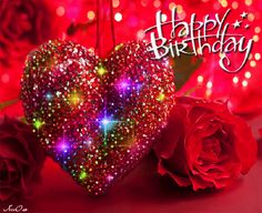 Birthday Quotes : Colorful Heart Happy Birthday Gif - The Love Quotes Cute Happy Birthday Quotes, Happy Birthday Hearts, Happy Birthday Video, Happy Birthday Celebration, Birthday Roses, Happy Birthday Friend, Happy Birthday Pictures, Happy Birthday Messages, Animated Birthday Greetings