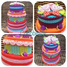 Spaarpot in de vorm van een taart. Geweldig idee! Crochet Cake, Crochet Food, Fake Cake, Play Food, Food Crafts, String Art, Scarves, Birthdays, Birthday Cake
