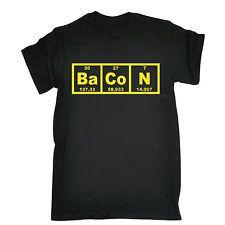Bacon Periodic Table T SHIRT - funny chemistry teacher slogan fashion casual tee