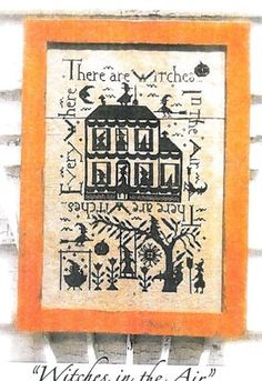 Witches In The Air is the title of this cross stitch pattern from Not Forgotten Farm.
