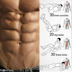 Here are some six pack ab exercises. Enjoy!
